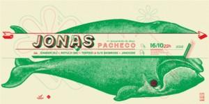 Lançamento do cd, Pacheco, da banda Jonas, com as bandas Zander (RJ) e Rótulo (SE)